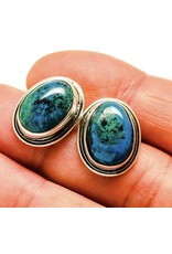 Chrysocolla Earrings - Stud