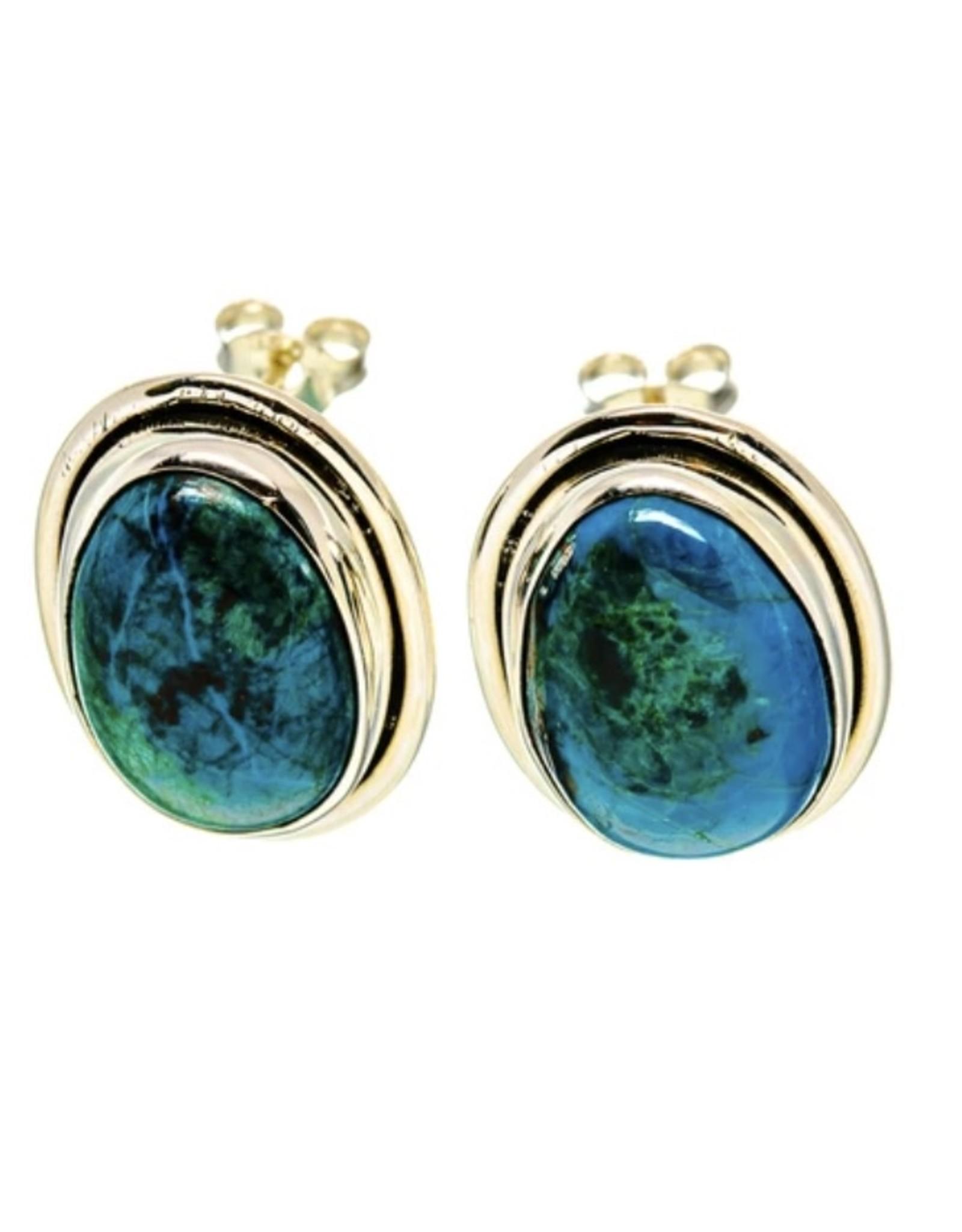Chrysocolla Earrings - Stud