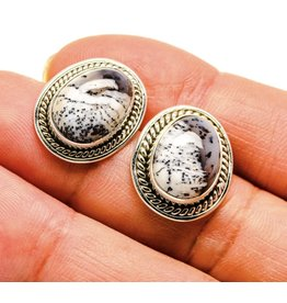 Dendritic Opal Earrings - Stud