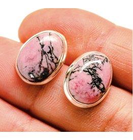 Rhodonite Earrings - Stud