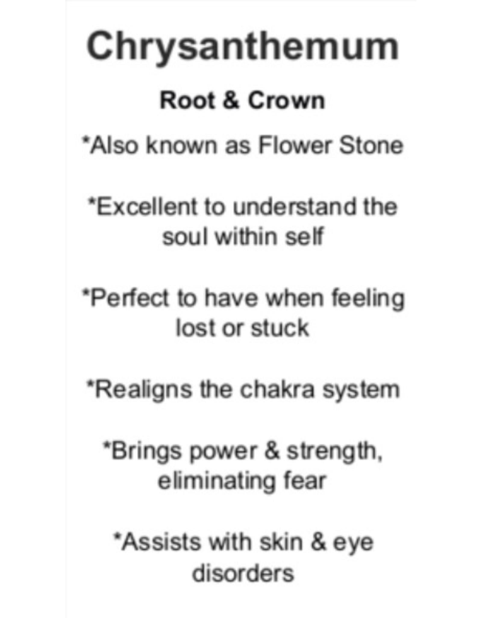 Chrysanthemum Palm/Pillow Stone