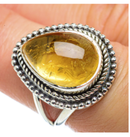 Natural Citrine Ring - Size 7.5