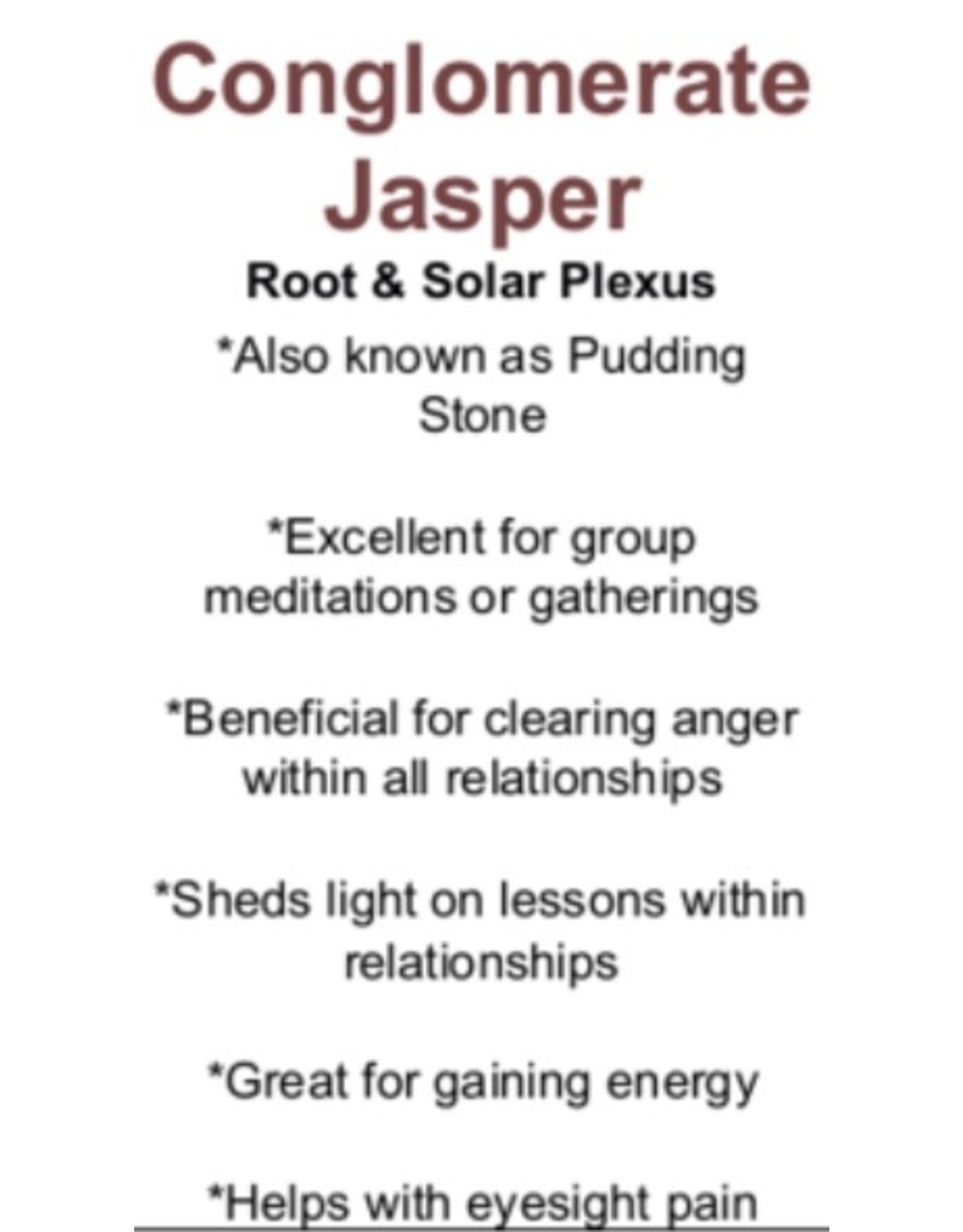 Conglomerate Jasper
