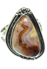 Crazy Lace Agate Ring - Size 7.25