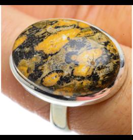 Poppy Jasper Ring - Size 8