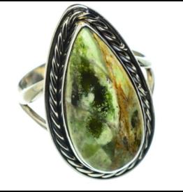 Australian Green Opal Ring - Size 8.25