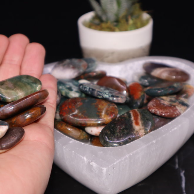 Bahia Jasper Flat Pocket Stone