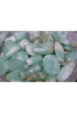 Bright Green Calcite Tumbled