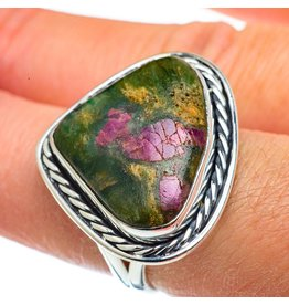Ruby Fuchsite Ring - Size 8.25