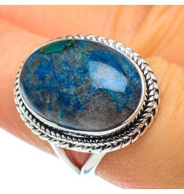 Chrysocolla In Quartz Ring - Size 7.25