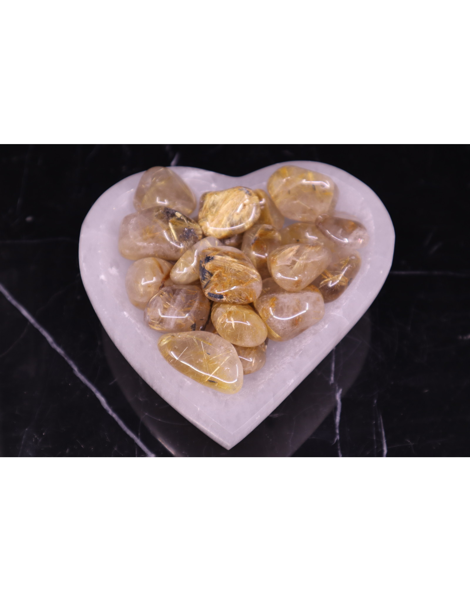 AA Gold Rutilated Quartz - Large Tumbled