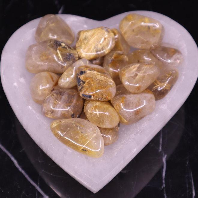 AA Gold Rutilated Quartz - Large Tumbled