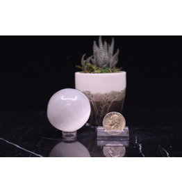 Selenite/Satin Spar Sphere Orb Medium 45mm