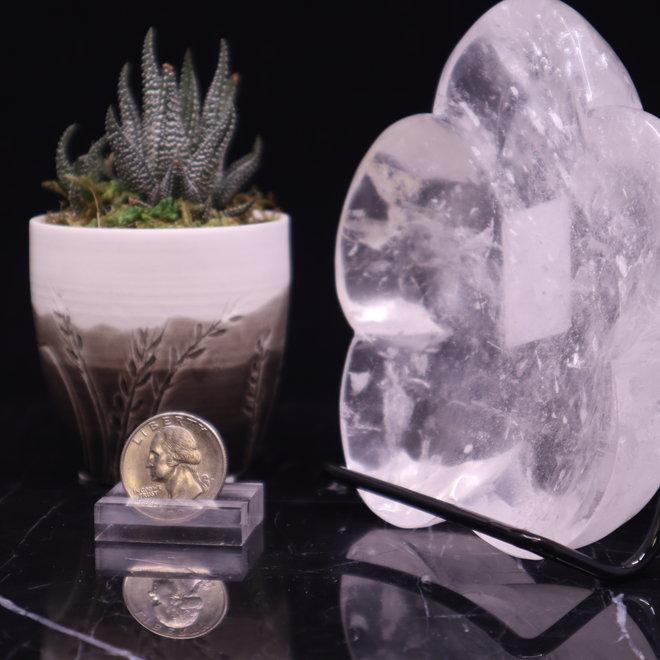 Clear Quartz Flower Bowl Large