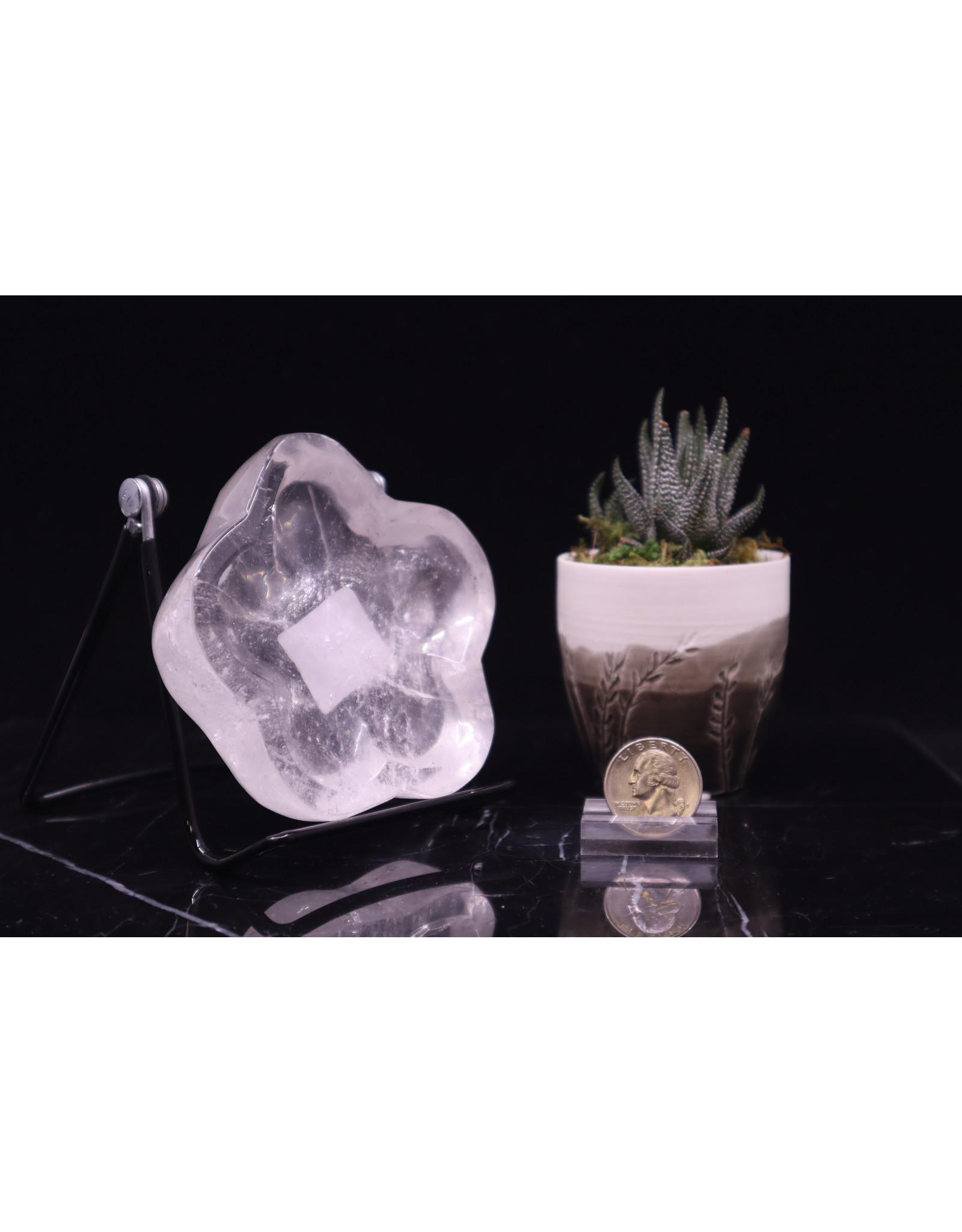 Clear Quartz Flower Bowl Small