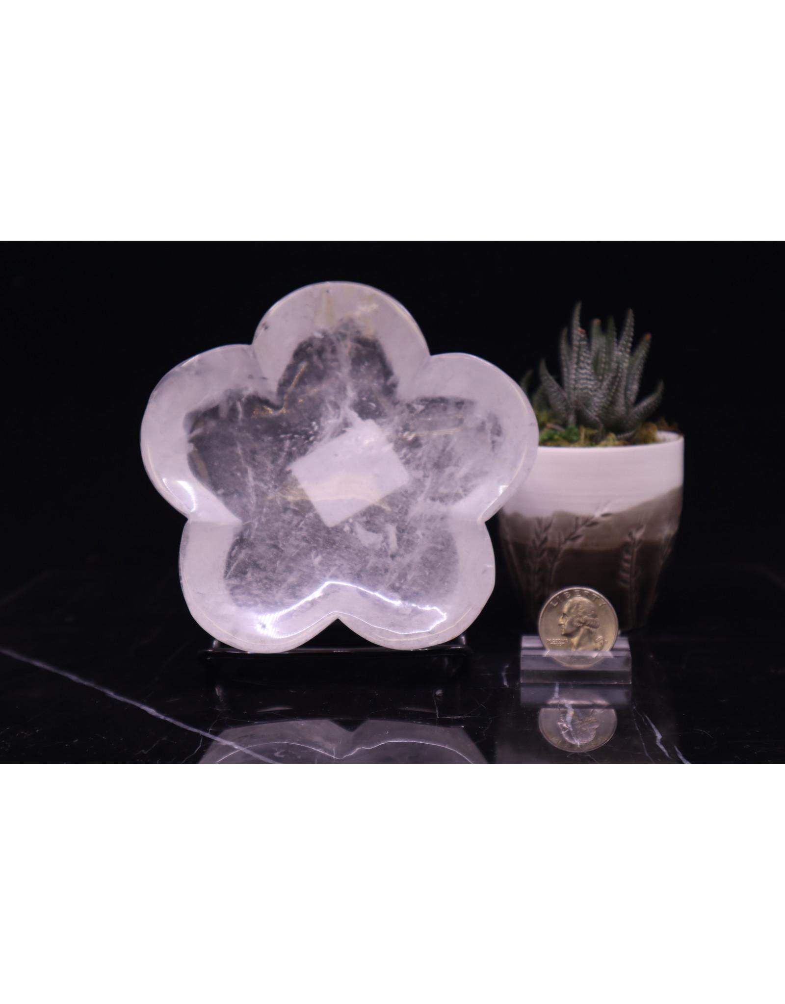 Clear Quartz Flower Bowl Medium