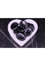 Black Obsidian Worry Stone -Large Oval
