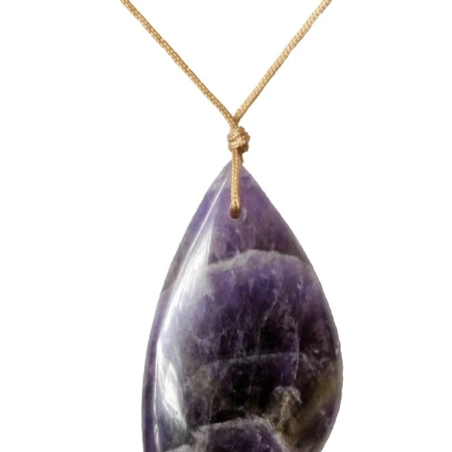 Amethyst Touchstone Necklace for Healing -SoulKu