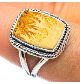 Germany Psilomelane Dendrite Ring -  Size 8.25