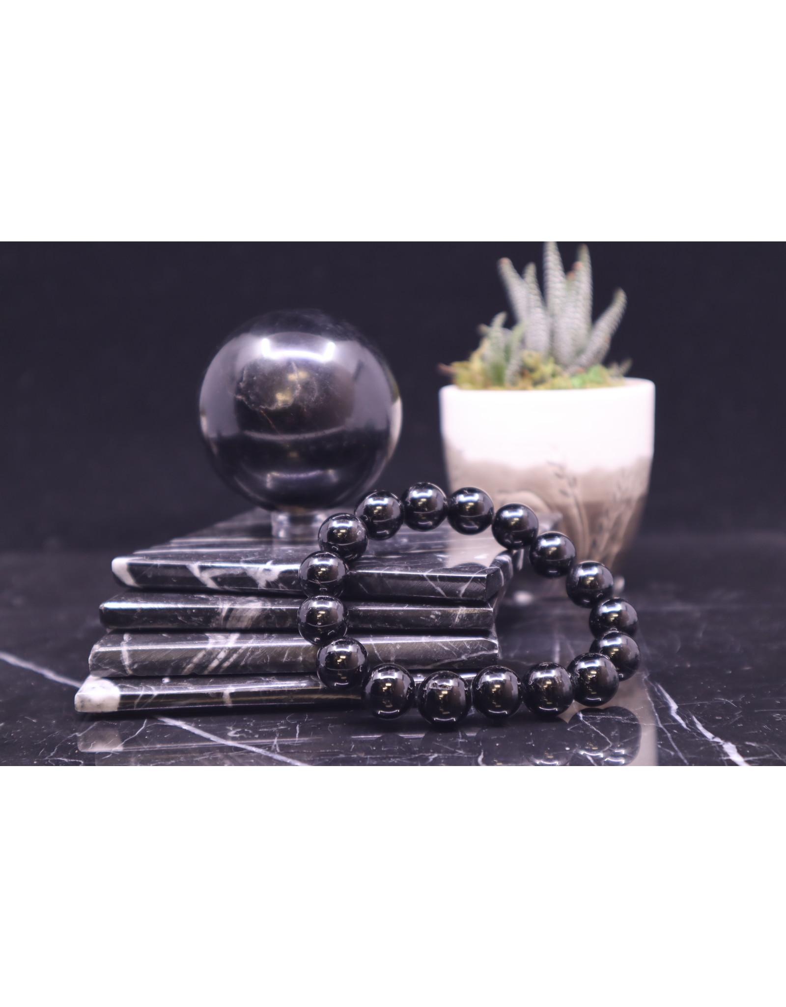 Black Tourmaline Bracelet  - 12mm