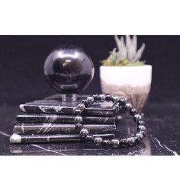 Black Tourmaline & Hematite  Bracelet - 8 mm