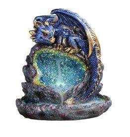 LED Blue Dragon- Cone Backflow Burner