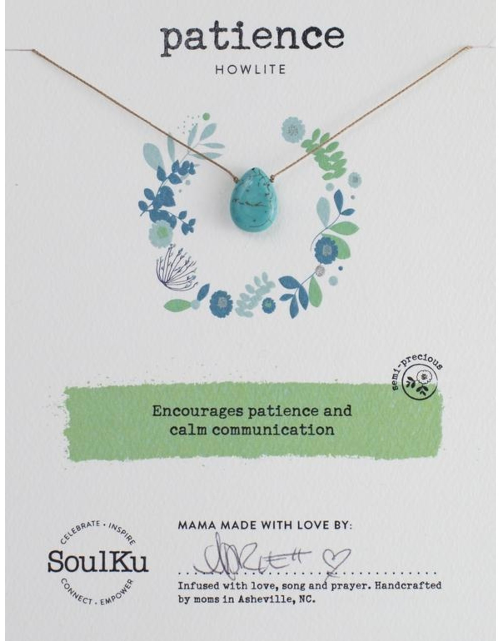 Blue Howlite Necklace for Patience - SoulKu