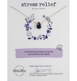 Black Onyx Necklace for Stress Relief-SoulKu