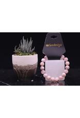 Bracelet -Flower Agate  - 10mm