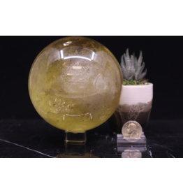 Large Citrine Sphere Orb 115mm