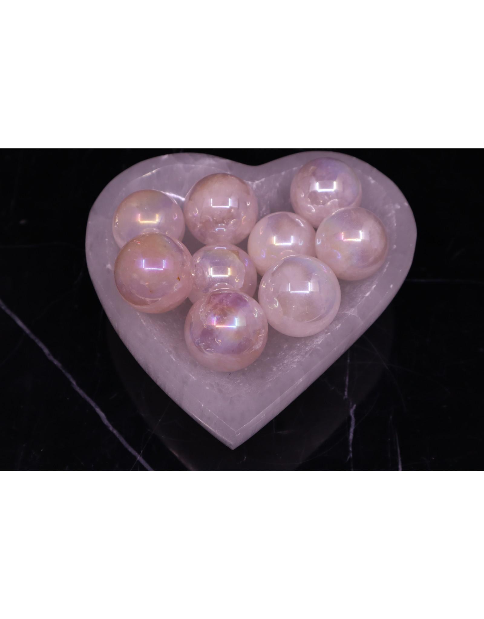 Aura Rose Quartz Sphere Orb - 30mm