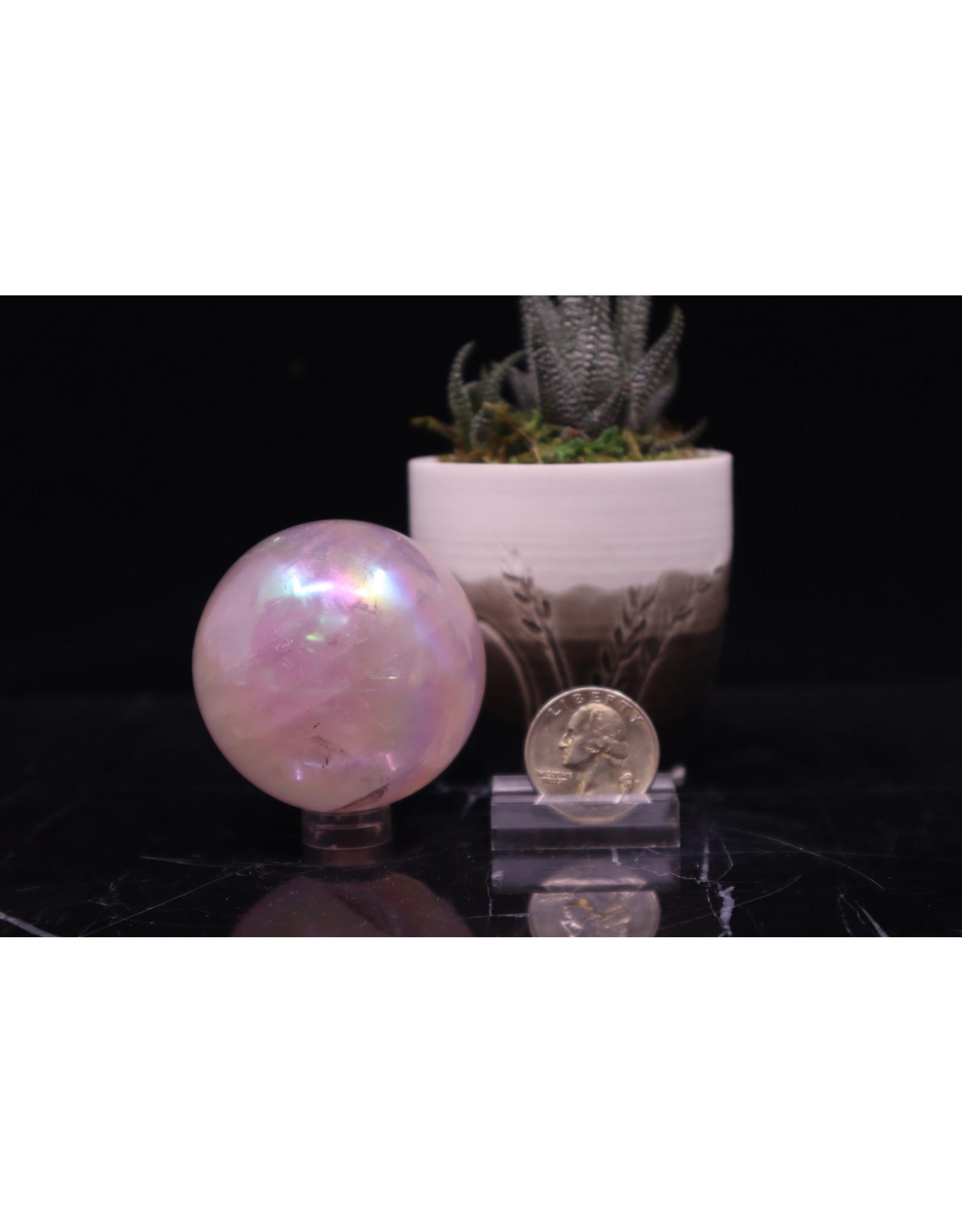Aura Rose Quartz Sphere Orb-50mm