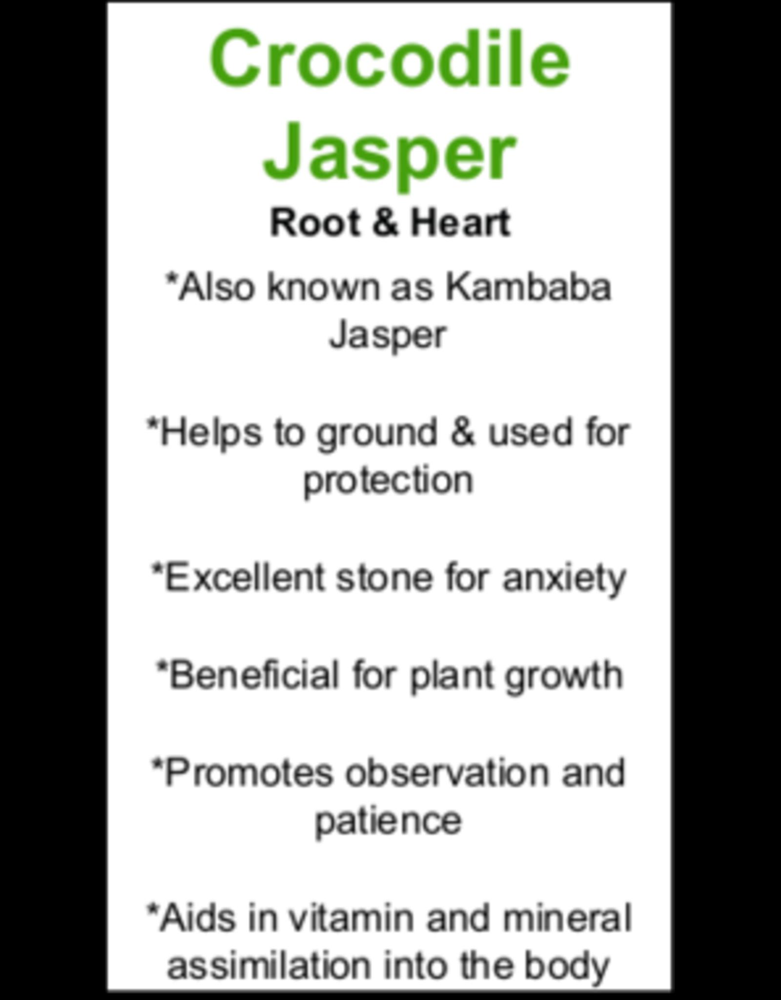 Bracelet -Kambaba/Crocodile Jasper  - 8 mm