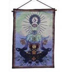 Tapestry Banner/Wall Hanging - Chakra Man Blue