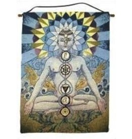 Tapestry Banner/Wall Hanging Seven Chakras