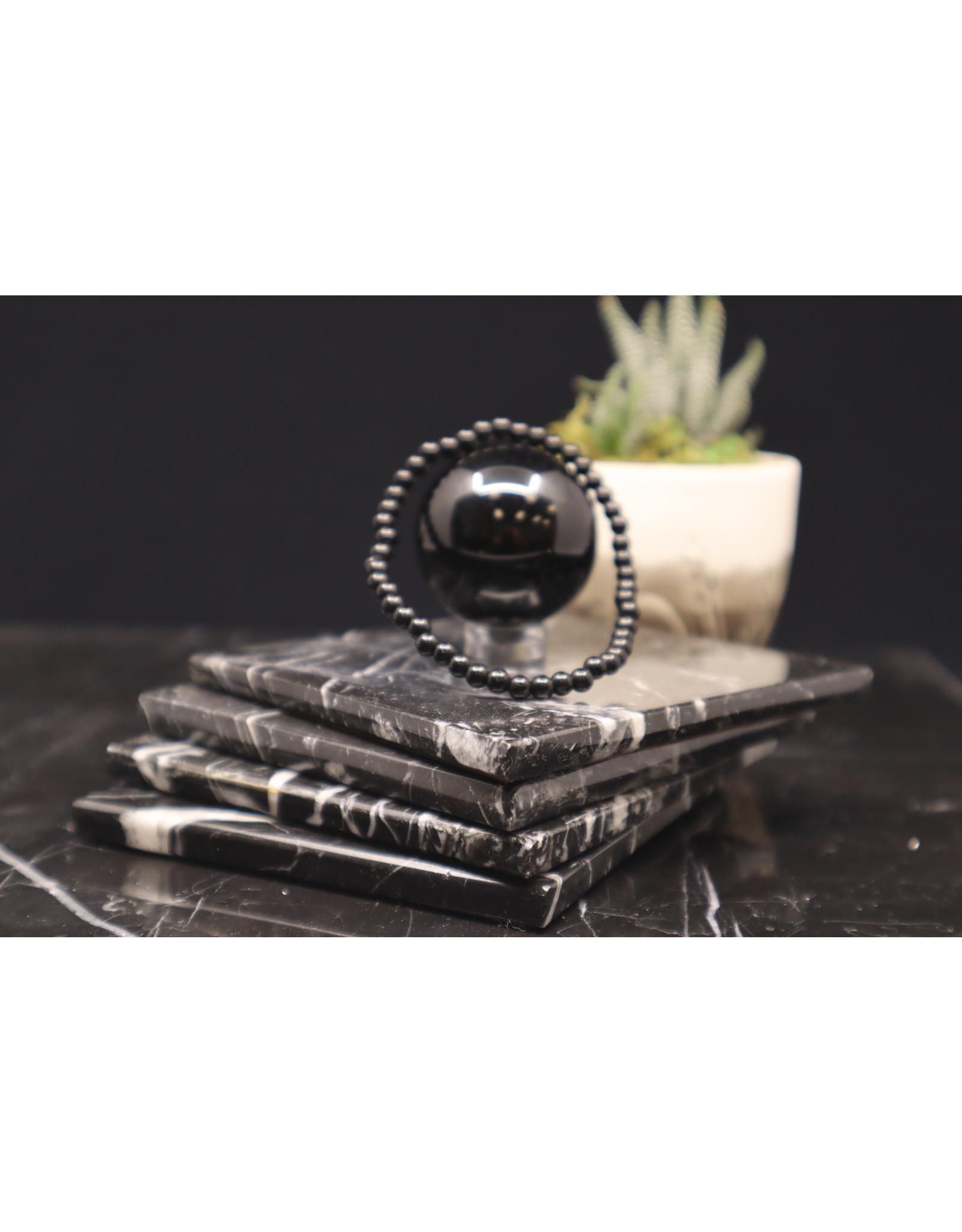 Black Onyx Bracelet -  4mm