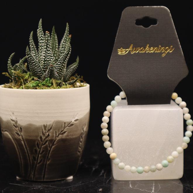 Mixed Amazonite Bracelet-4mm