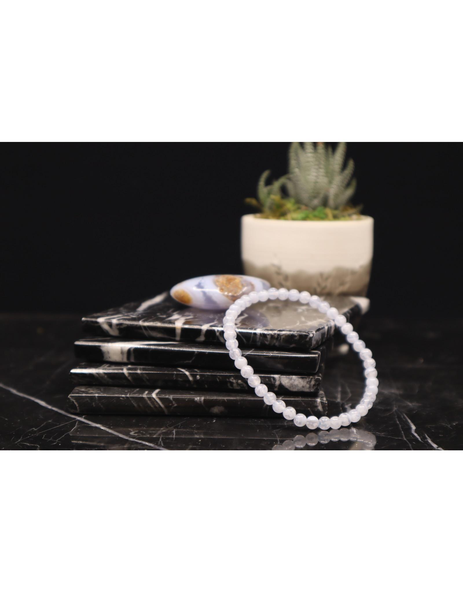 Blue Lace Agate Bracelet - 4mm