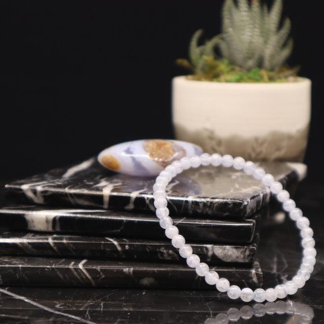 Blue Lace Agate Bracelet-4mm