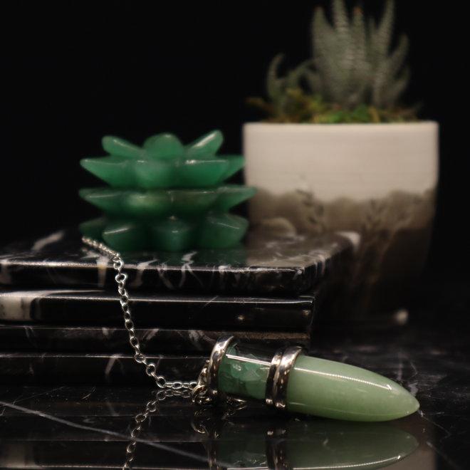 Green Aventurine Chambered Cone Pendulum