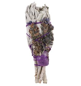 White Sage & Lavender with Amethyst