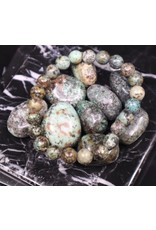 African Turquoise Bracelet -  8mm