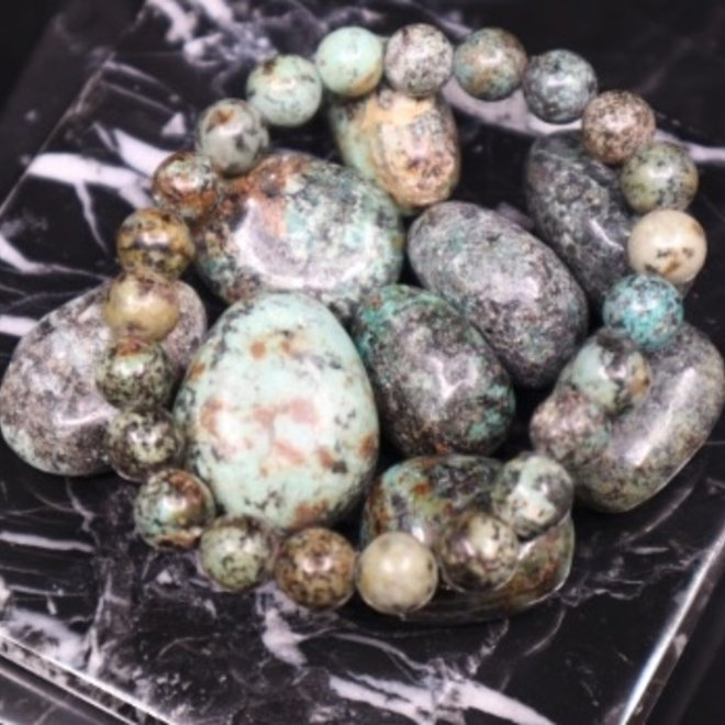 African Turquoise Bracelet-8mm