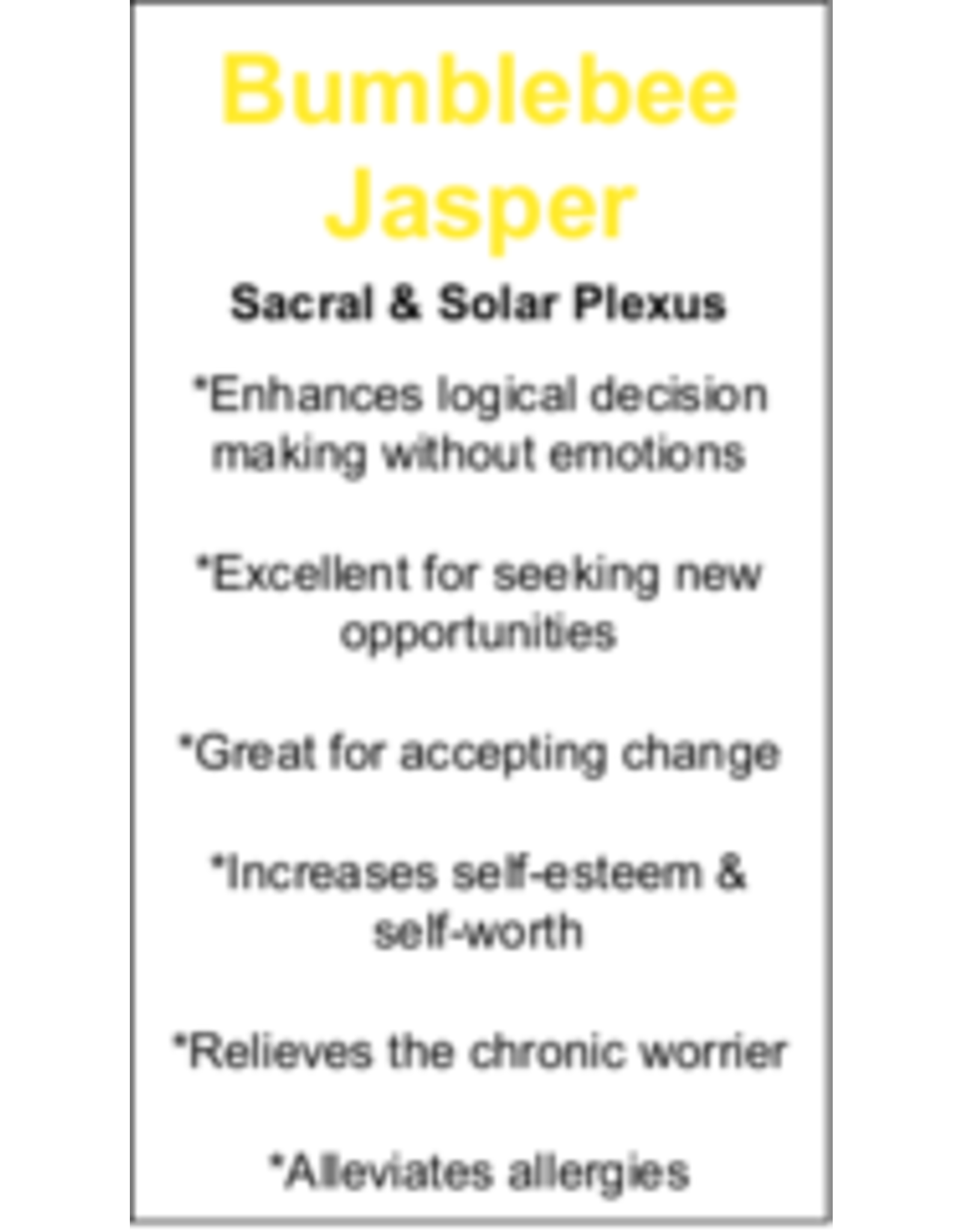 Bumblebee Jasper - Card