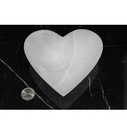 Selenite/Satin Spar Heart Charging Bowl