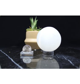 Selenite/Satin Spar Sphere Orb-80mm