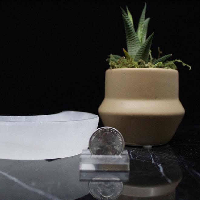 Selenite/Satin Spar Moon Charging Bowl-Small