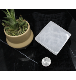 """Square Selenite Charging Disk/Plate-3"""" Small"""