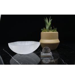 Selenite/Satin Spar Hexagon Charging Bowl-Medium