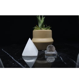 "Selenite Satin Spar Small Pyramid 2"""